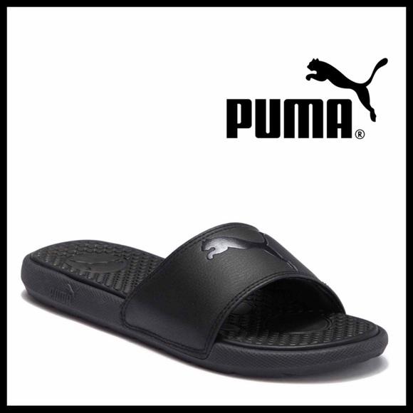 Black Slides Slip On Sport Sandals A2c